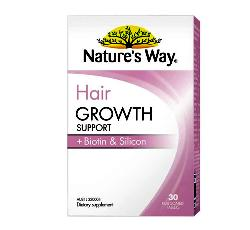 Natures Way Hair Growth Support + Biotin & Silicon hộp 30 viên