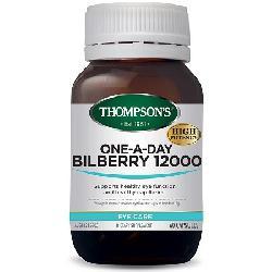 Thompsons One-A-Day Bilberry 12000mg 60 viên hỗ trợ mắt và mao mạch