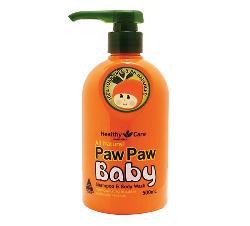 Sữa tắm gội cho bé của Úc Healthy Care All Natural Paw Paw Baby 500ml