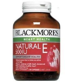Viên uống Blackmores Natural Vitamin E 500IU hộp 150 viên của Úc