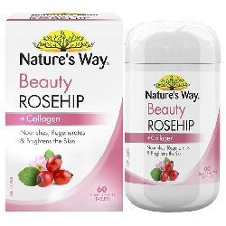 Natures Way Beauty Rosehip + Collagen hộp 60 viên của Úc