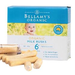 Bellamys Organic Milk Rusks 100g – Bánh ăn dặm cho bé từ 6 tháng tuổi