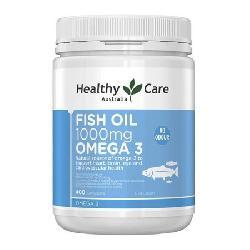 Dầu cá Healthy Care Fish Oil 1000mg Omega 3 400 viên hàng chuẩn Úc