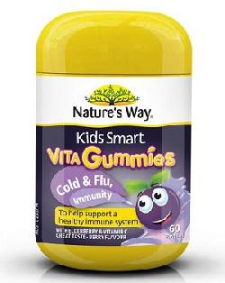 Kẹo Vita Gummies Cold & Flu Natures Way hỗ trợ phòng ngừa cảm cúm cho bé
