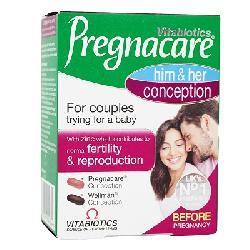 Viên dễ thụ thai Vitabiotics Pregnacare him & her Conception
