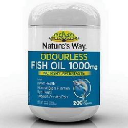 Dầu cá Natures Way Odourless Fish Oil 1000mg 200 viên của Úc