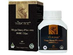 Viên nhau thai cừu Vitatree Mega Sheep Placenta 80000 Max 60 viên Úc