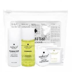 Bộ chăm sóc cơ bản Sakura Travel Kit - Làm sạch da, chống nắng, tẩy trang