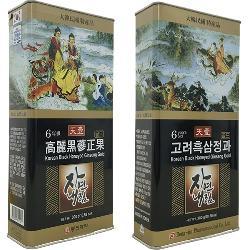Hắc sâm củ tẩm mật ong hộp thiếc Dongjin Hàn Quốc hộp 300g củ to