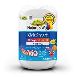 Dầu cá Kids Smart Omega 3 Fish Oil High DHA cho trẻ 60 viên