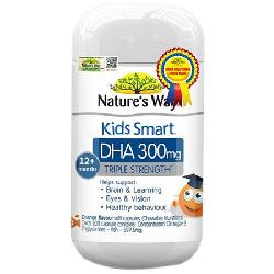 Natures Way Kids Smart DHA 300mg - Kẹo bổ sung DHA cho bé