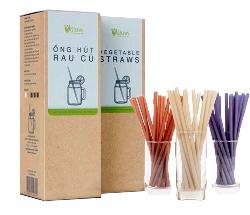 Ống hút rau củ Vistraws Vegetable Straws của Isito