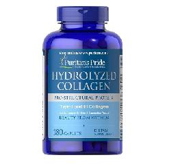 Viên uống collagen mỹ Puritan Pride Hydrolyzed Collagen 1000 mg 180 viên