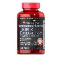 Triple Omega 3 6 9 Puritan Pride - Bổ sung Omega 3 6 9 cho tim mạch