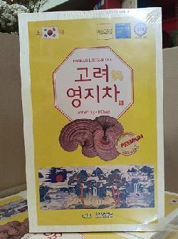 Trà Linh Chi 100 gói x 3g hộp gỗ Hàn Quốc tốt cho sức khỏe