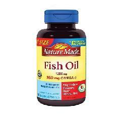 Dầu cá Nature Made Fish oil Omega 3 1200mg hộp 180 viên