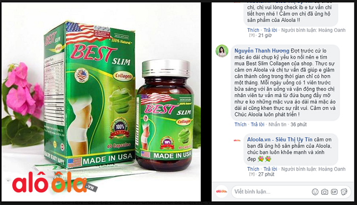 Best Slim Collagen review trên Facebook