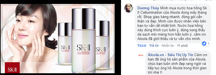 SK-II Cellumination Mask In Lotion review trên Alooala
