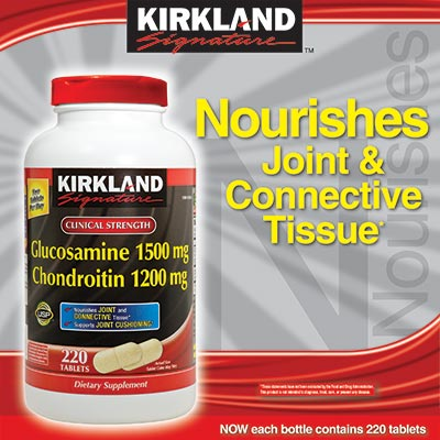 Kirkland Glucosamine 1500 mg & Chondroitin 1200 mg chuyên trị khớp