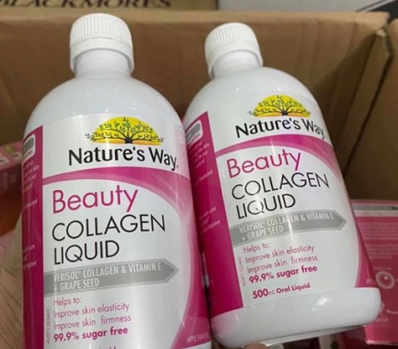 natures way beauty collagen liquid bổ sung collagen cho làn da