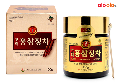 review cao hồng sâm korean red ginseng extract tea 100g