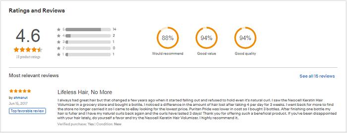 Reviews Viên Uống Mọc Tóc Neocell Keratin Hair Volumizer Của Mỹ