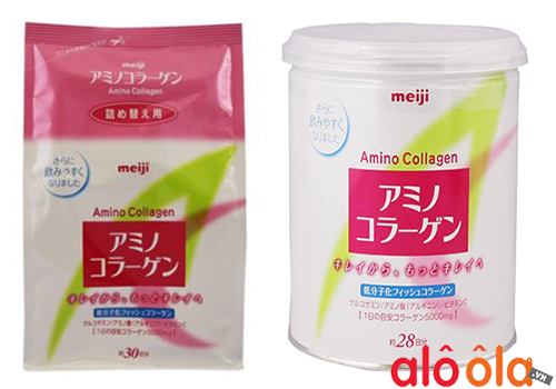 Review bột collagne meiji amino