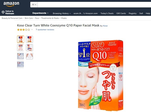Review kose clear turn white mask