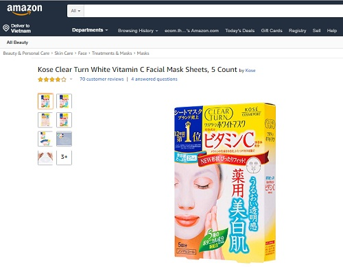 kose clear turn white mask review