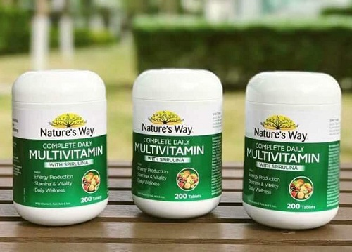 Vitamin Tổng Hợp Và Tảo Biển Natures Way Multivitamin Spirulina Của Úc