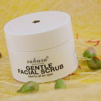 Kem tẩy tế bào chết cho da mặt Gentle Facial Scrub Sakura với những công dụng tuyệt vời cho làn da